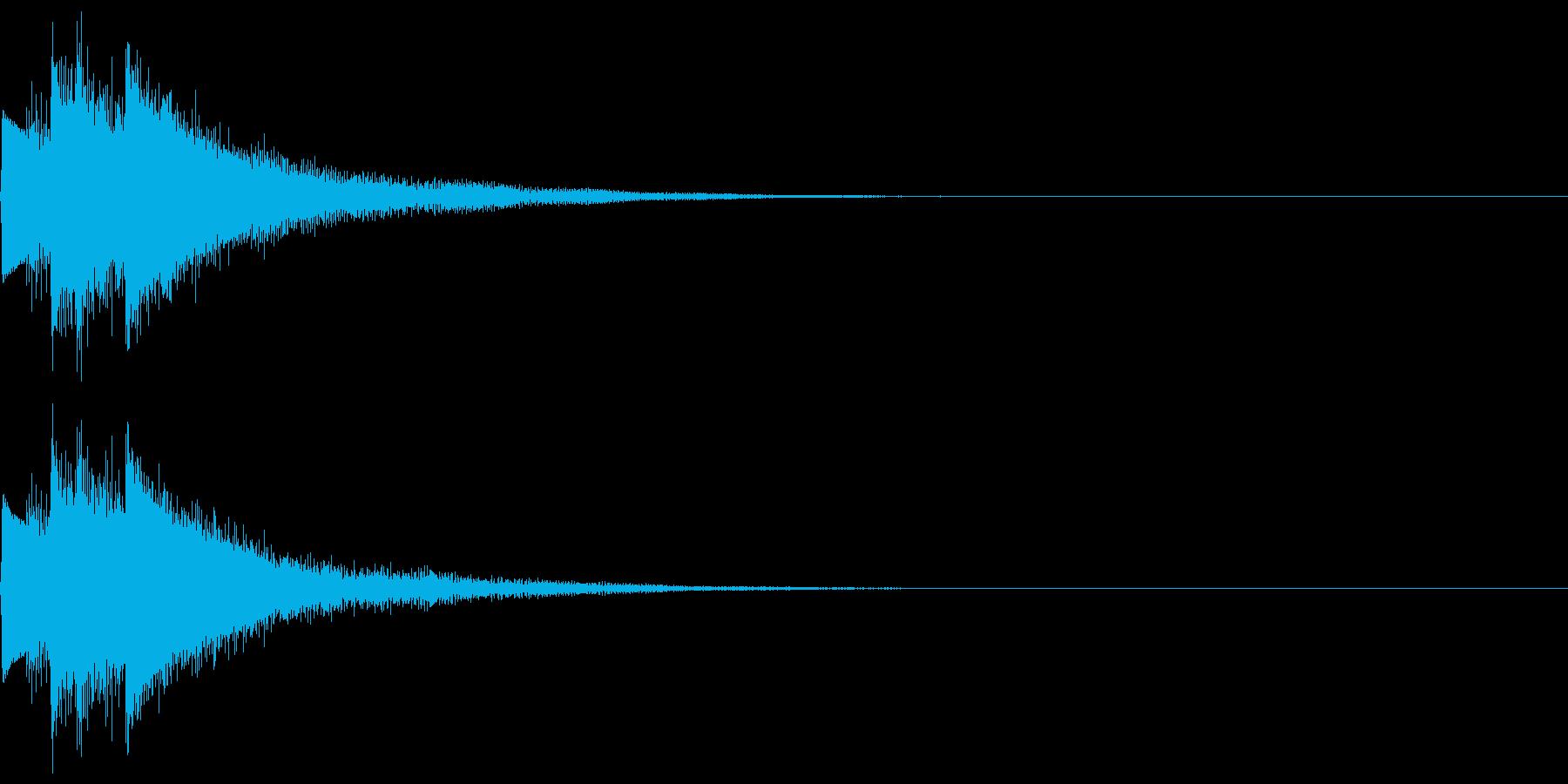 キラン!なアタック音5の再生済みの波形