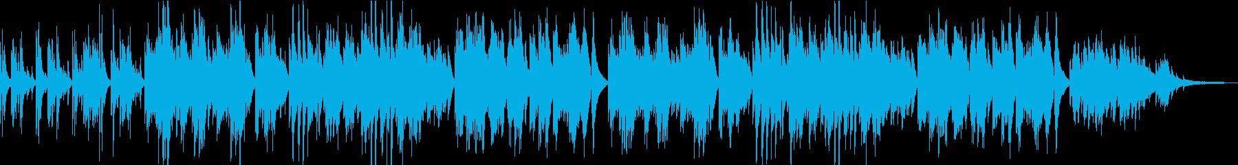 しっとり切なく回想的なピアノソロの再生済みの波形