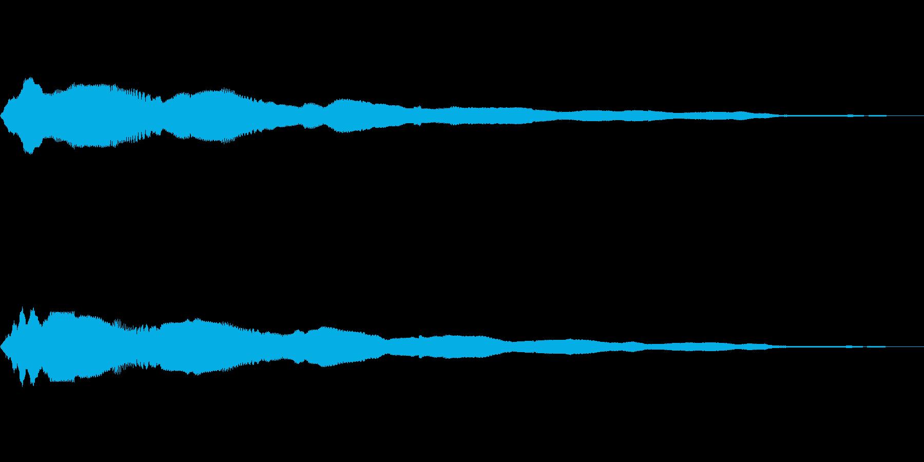 キラーン(8bit風)の再生済みの波形