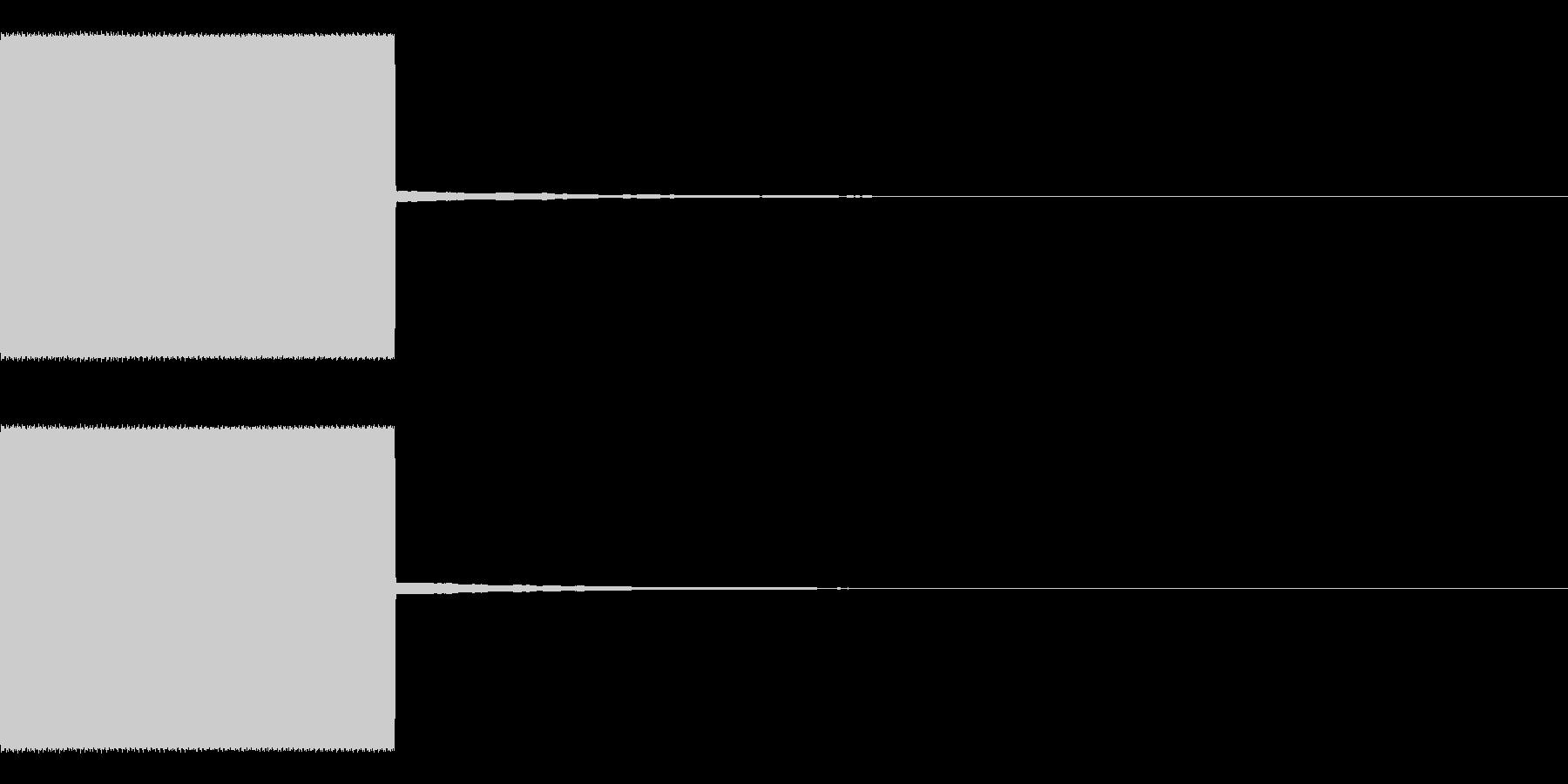 放送規制音 ピー 高音 短めの未再生の波形