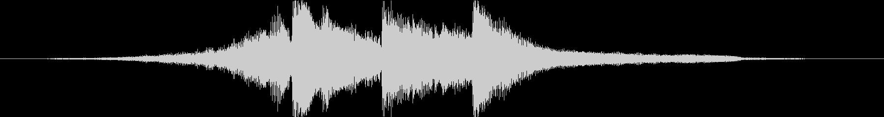 アコギとピアノで奏でるジングル#4の未再生の波形