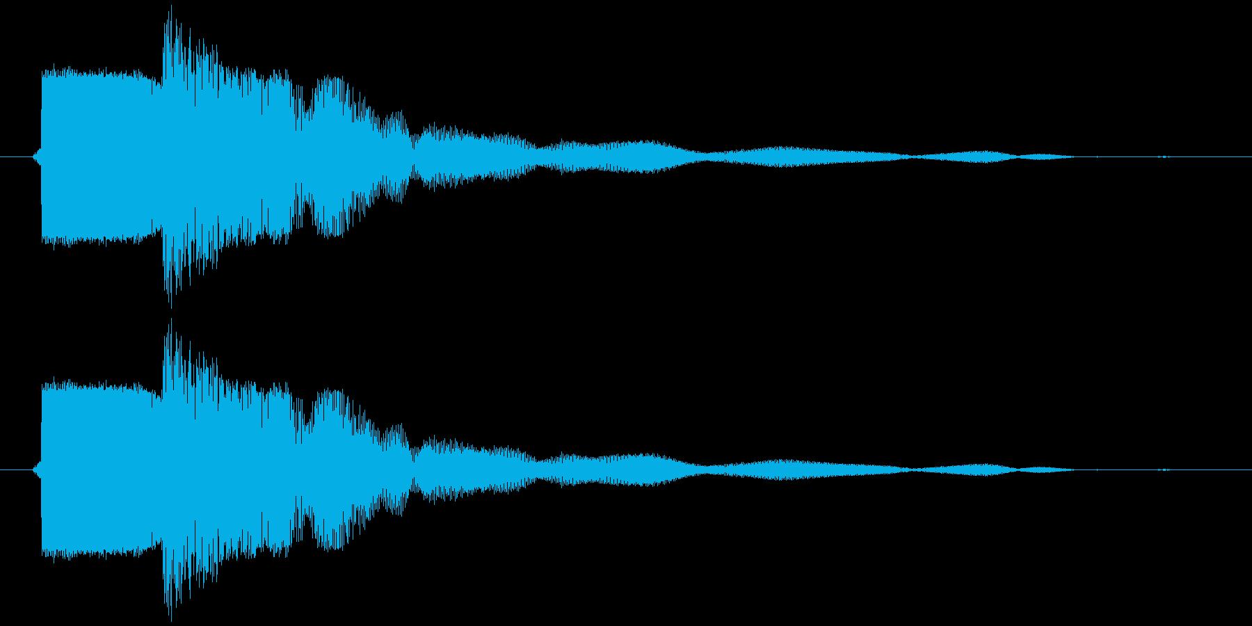カキーン 金属音 衝撃音 打撃音の再生済みの波形
