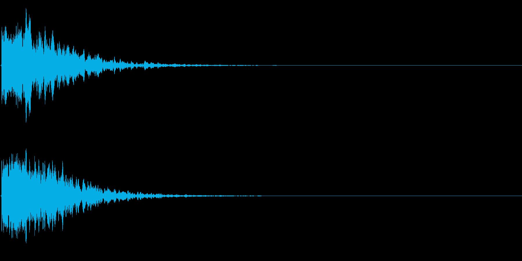 ゲームスタート、決定、ボタン音-011の再生済みの波形
