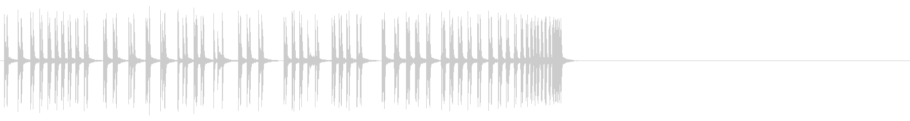 長く、ゆっくり、金属、ラチェットの...の未再生の波形