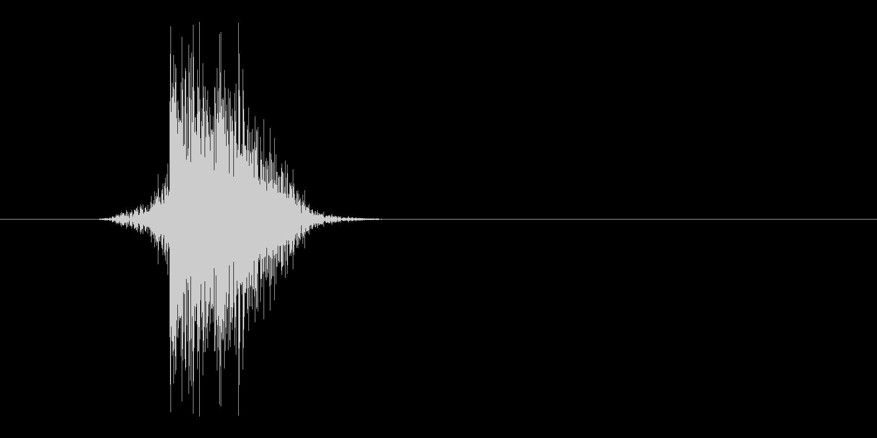 ゲーム(ファミコン風)ヒット音_031の未再生の波形