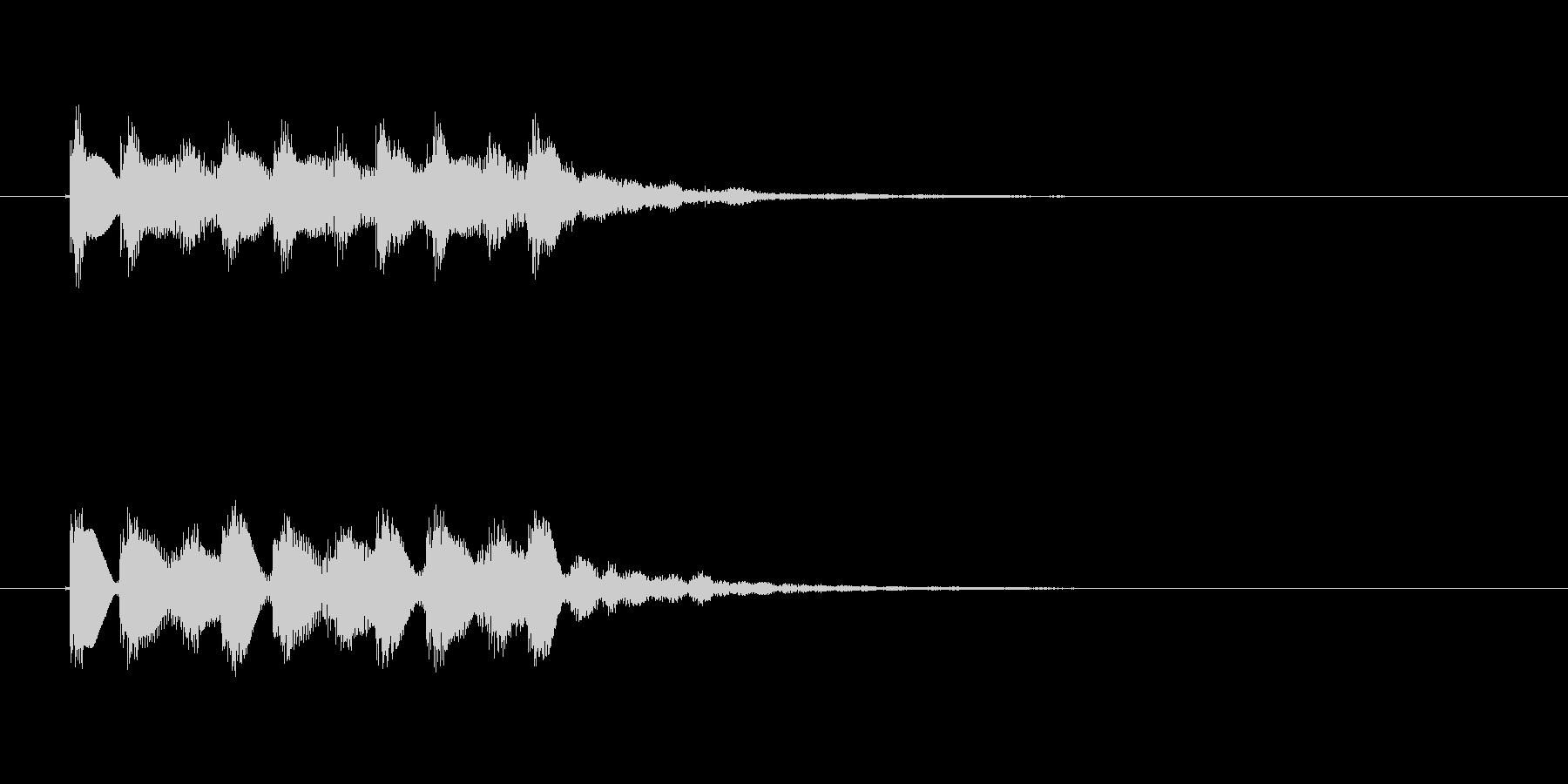 フォンファン(透明感のある音、起動音)の未再生の波形