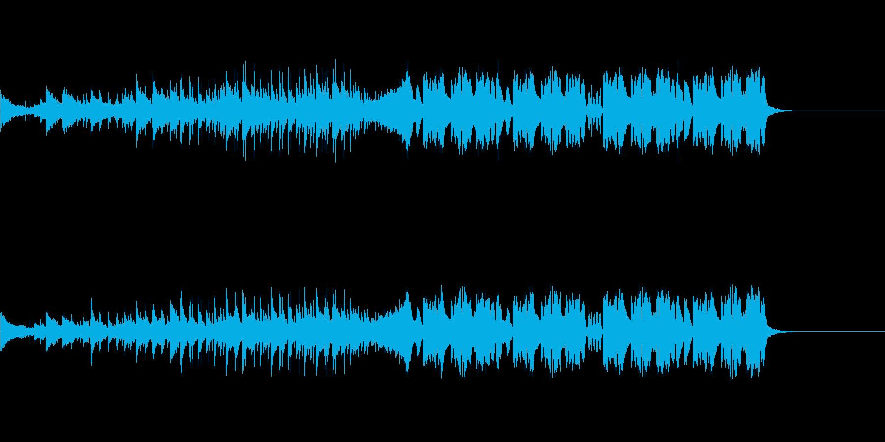 ファンキーな変則ビートの再生済みの波形