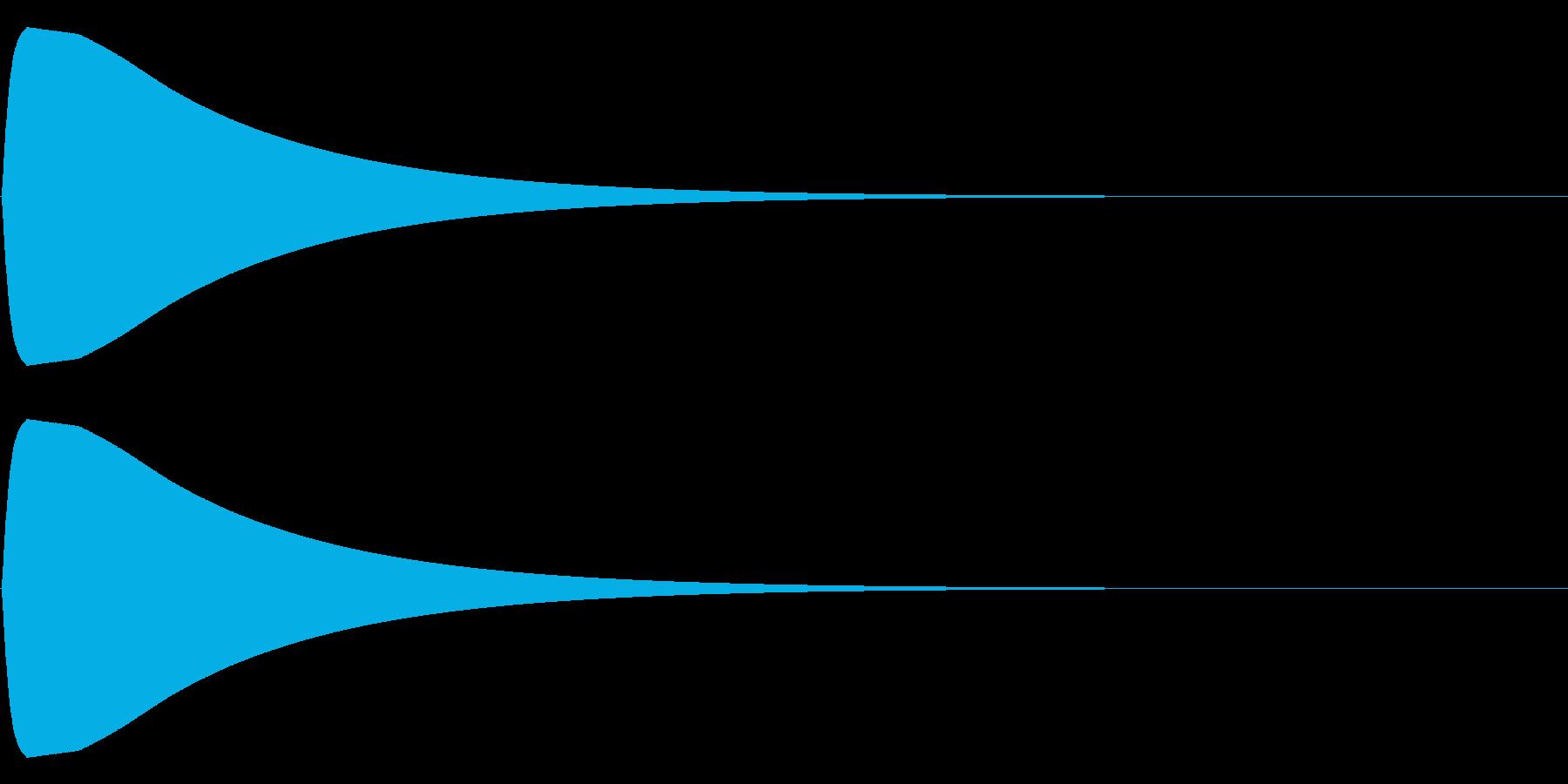 ポーンの再生済みの波形