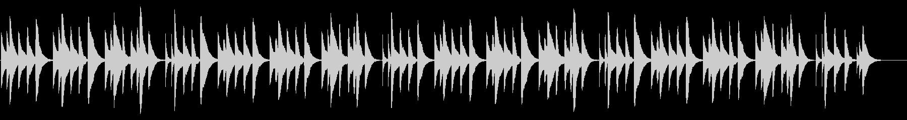 ハッピーバースデー 18弁オルゴールの未再生の波形