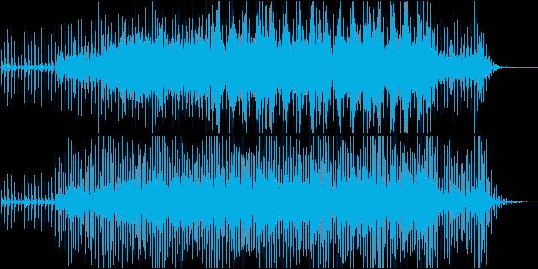 サイエンス系BGM(WAV版)の再生済みの波形