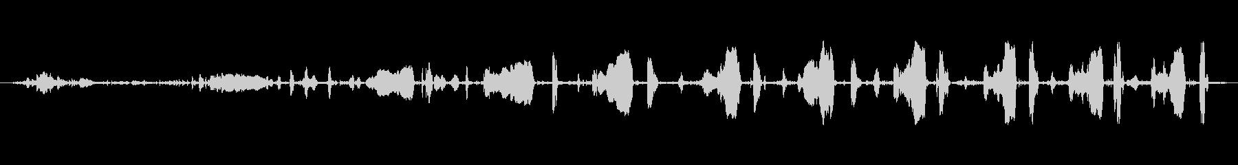 小さな金属回転ハンドル:一定の低速...の未再生の波形