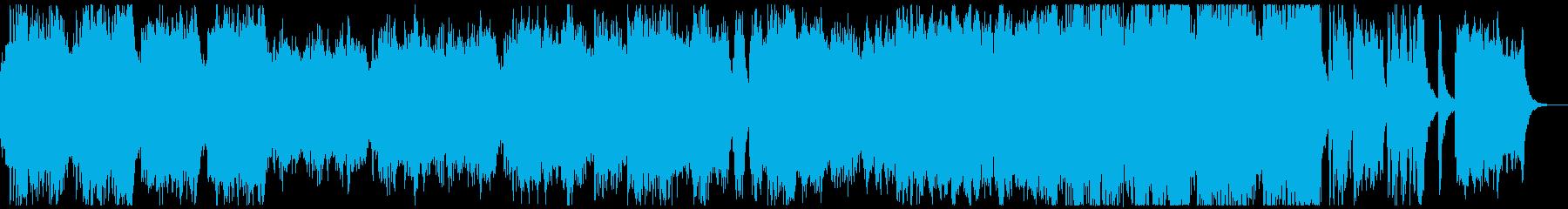 オープニング映像にぴったりのオーケストラの再生済みの波形