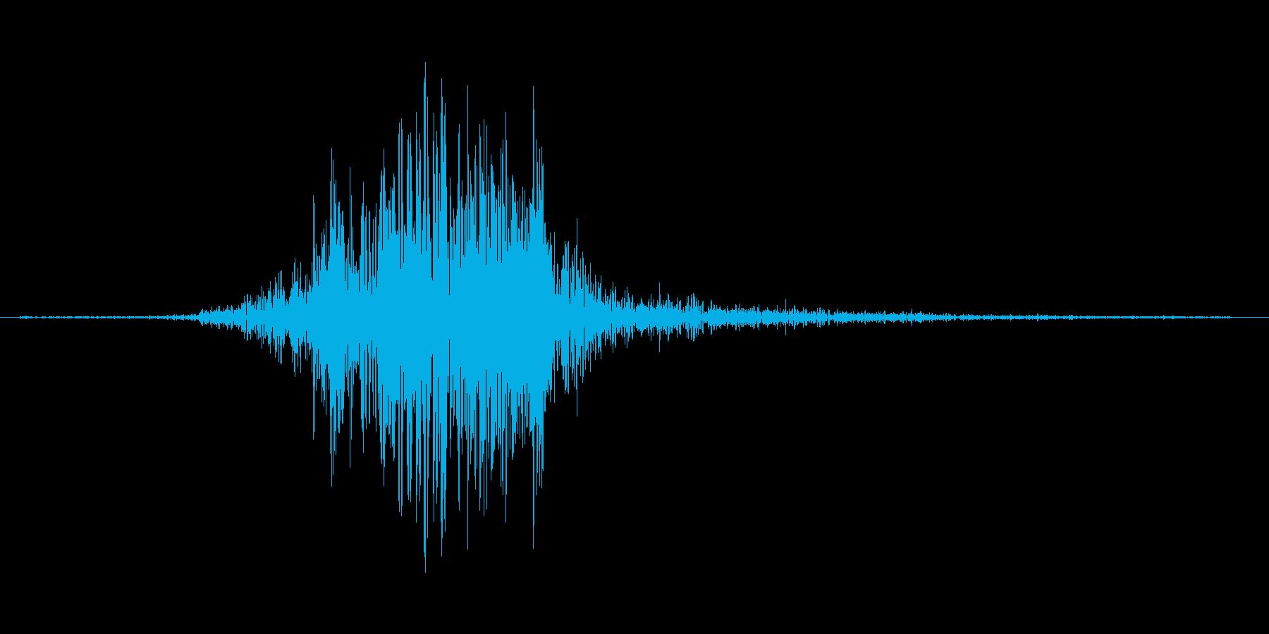 ガァの再生済みの波形