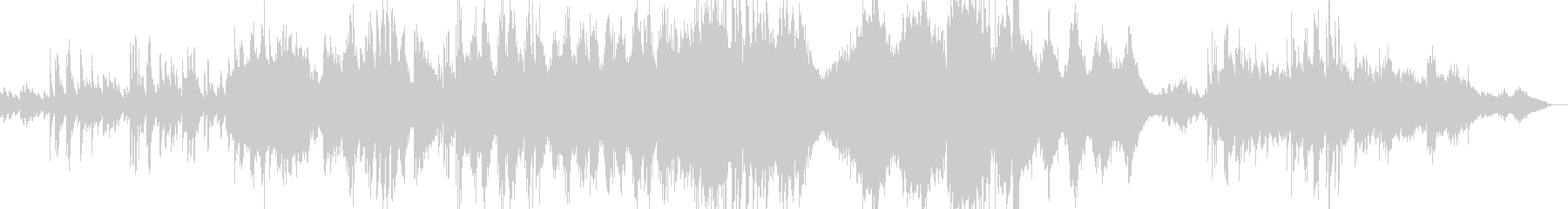 ロシア風のクラシカルなピアノ曲の未再生の波形