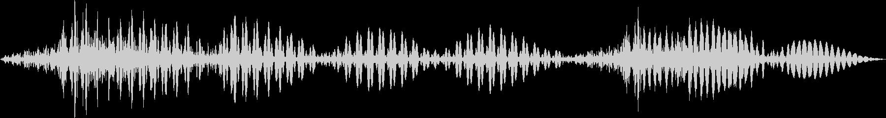SFテキストトーンマテリアライズの未再生の波形