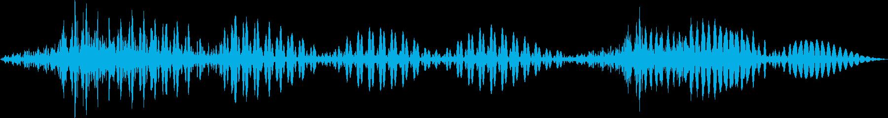 SFテキストトーンマテリアライズの再生済みの波形