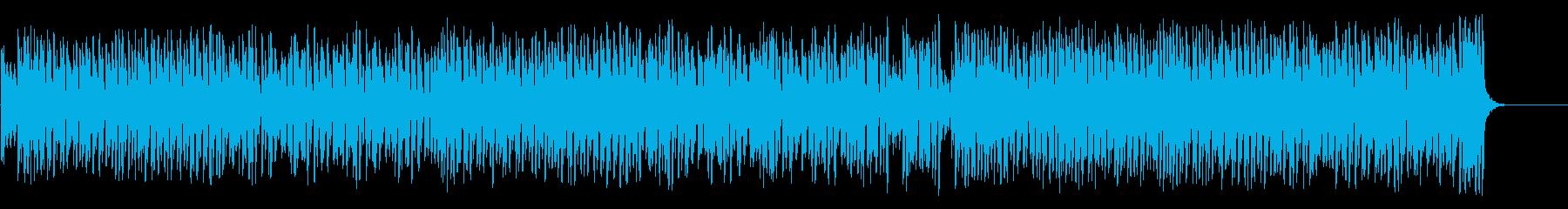 スウィングとピアノのジャズポップスの再生済みの波形