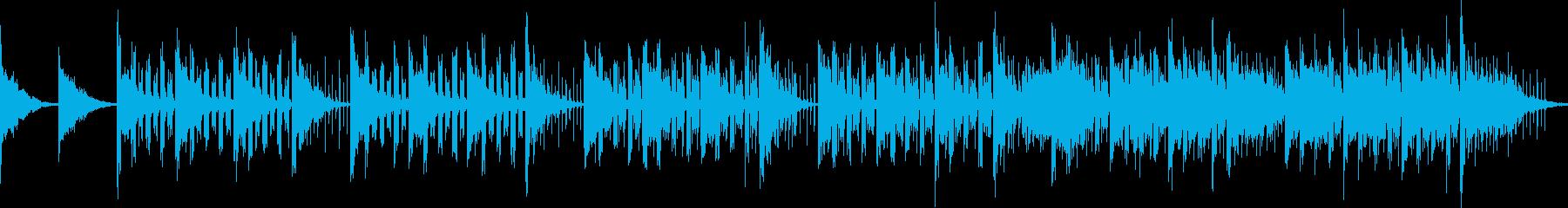 宇宙SF的なイメージのエレクトロBGMの再生済みの波形