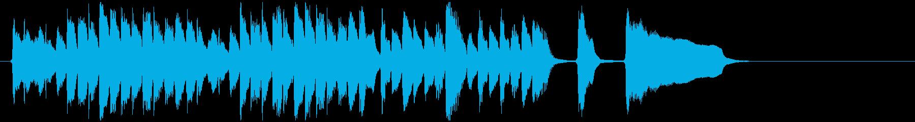 クラシックピアノ練習曲風のジングルの再生済みの波形