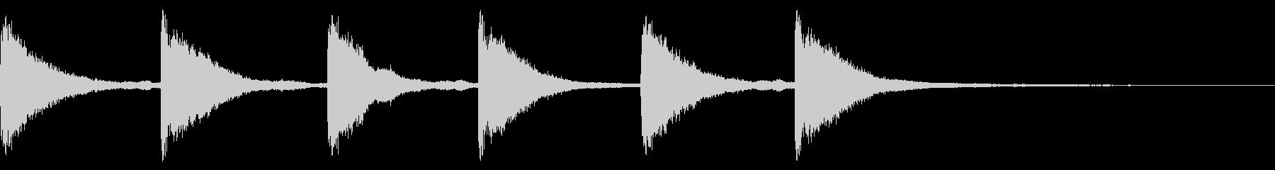 メルトンチャーチベル4:シックスリングの未再生の波形