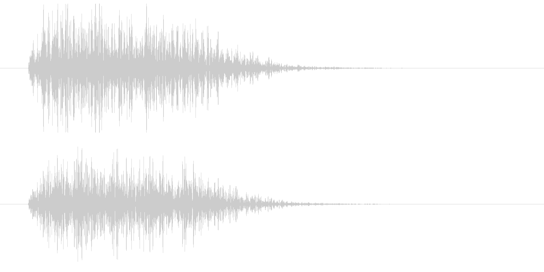 漫画ピアノヒットインパクトの未再生の波形