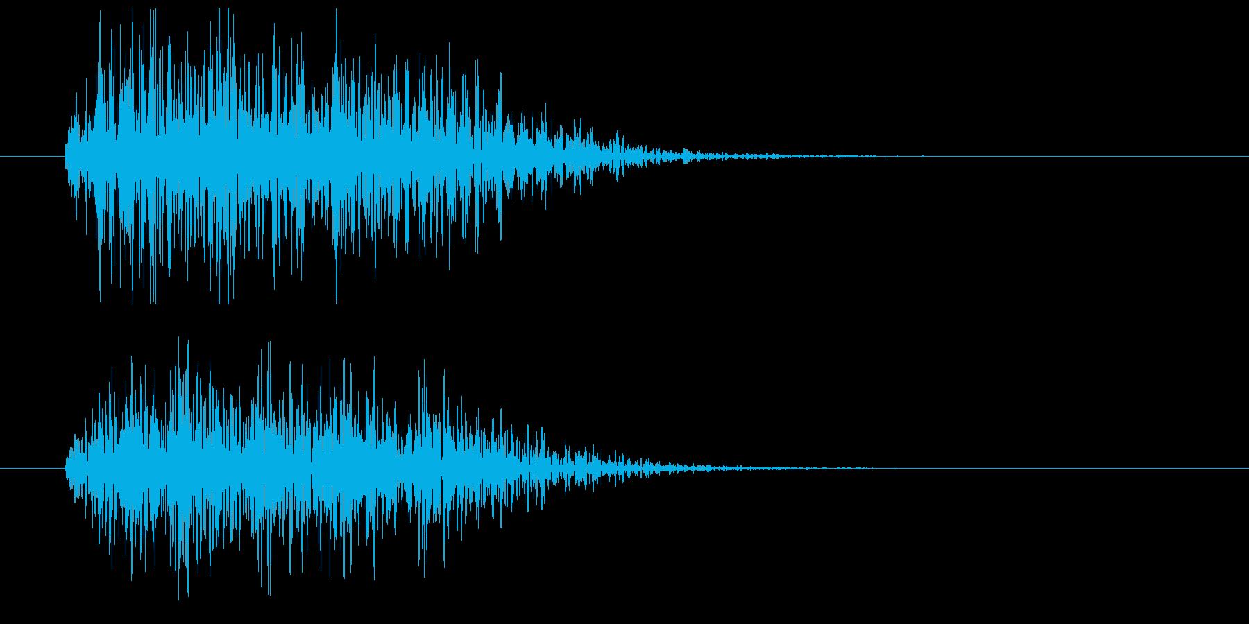 漫画ピアノヒットインパクトの再生済みの波形