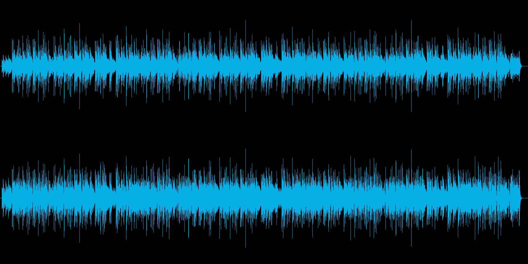 ピアノの楽しい雰囲気いっぱいのBGMの再生済みの波形