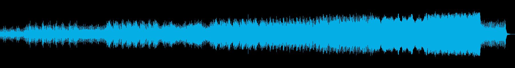 一歩一歩着実にゆっくりと進化する前向き曲の再生済みの波形