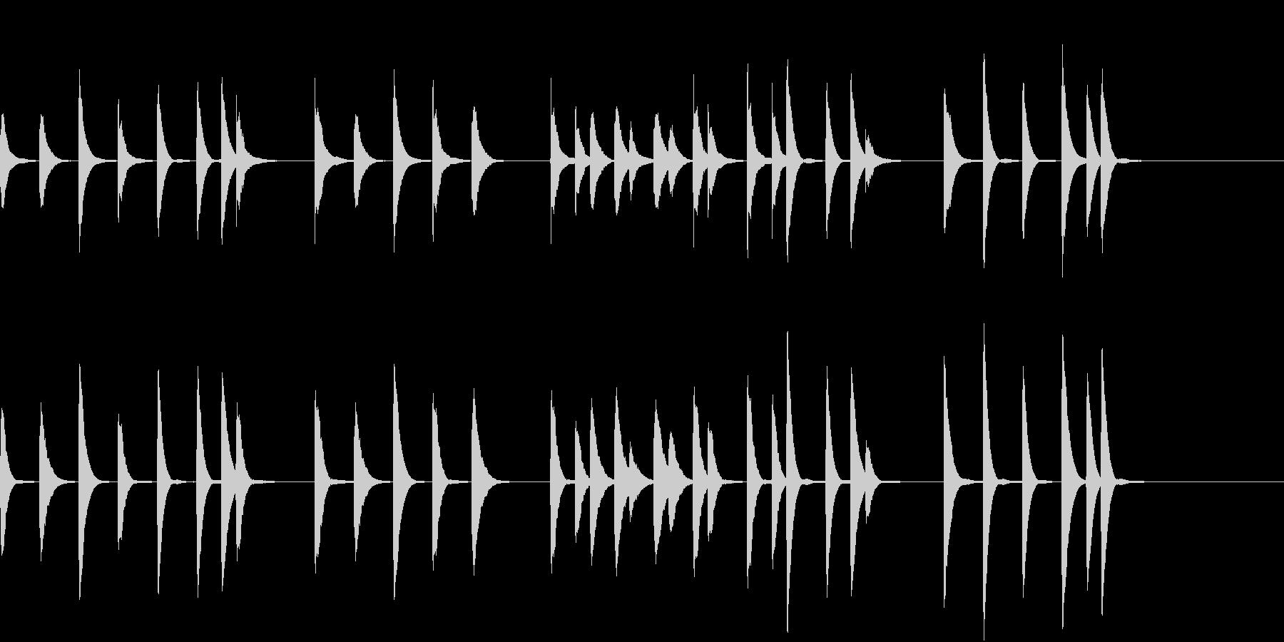 明るい健康をイメージしたピアノメロディの未再生の波形