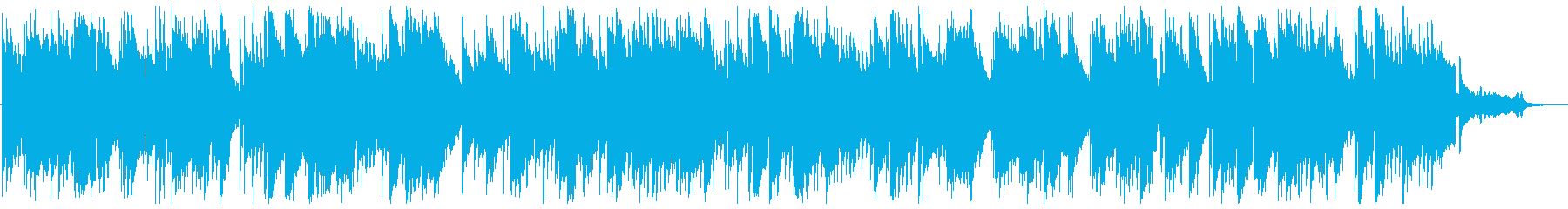 ピアノとストリングスの優しいバラードの再生済みの波形