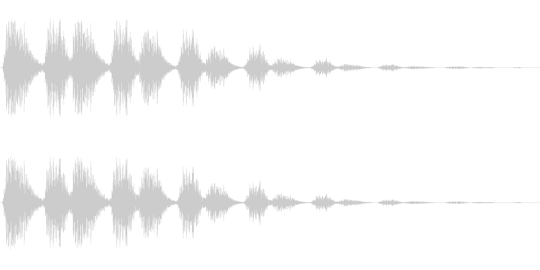 ウィンウィウィンウィウィンの未再生の波形