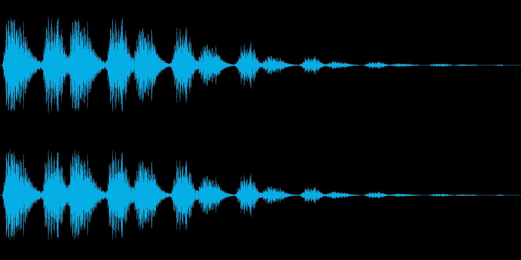 ウィンウィウィンウィウィンの再生済みの波形