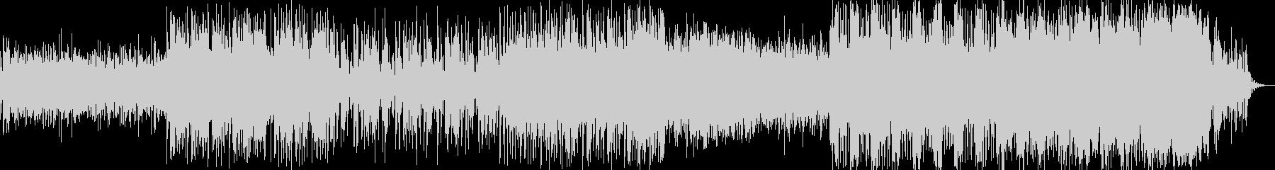 不穏で怪しげな電子サウンドの未再生の波形
