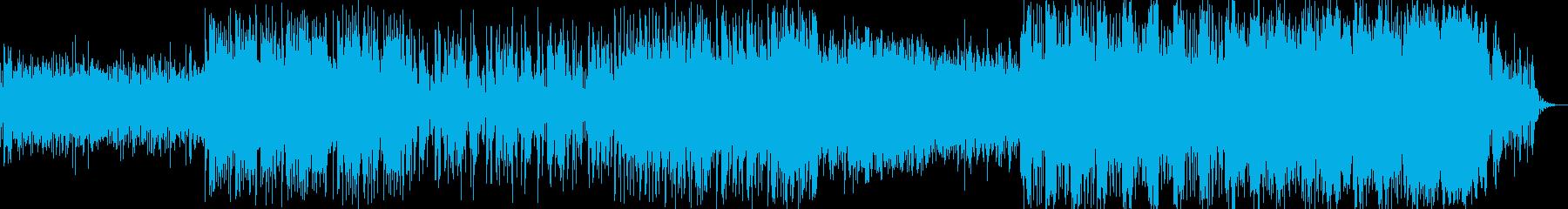 不穏で怪しげな電子サウンドの再生済みの波形