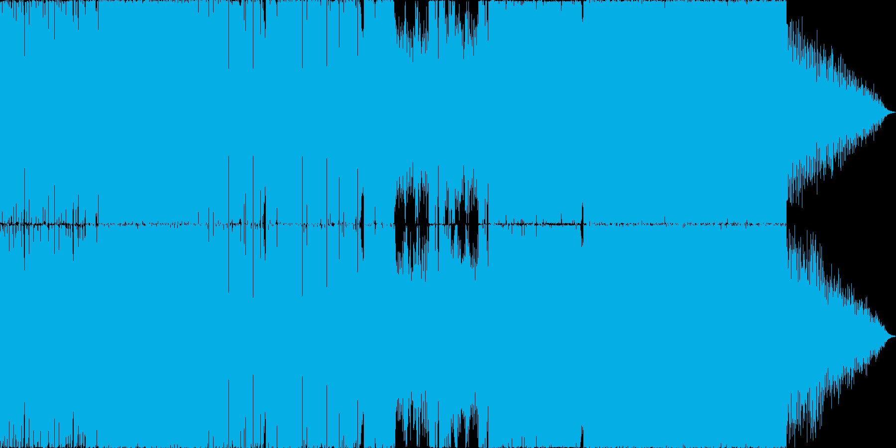 サイバーなエレクトロニカ・ドラムンベースの再生済みの波形