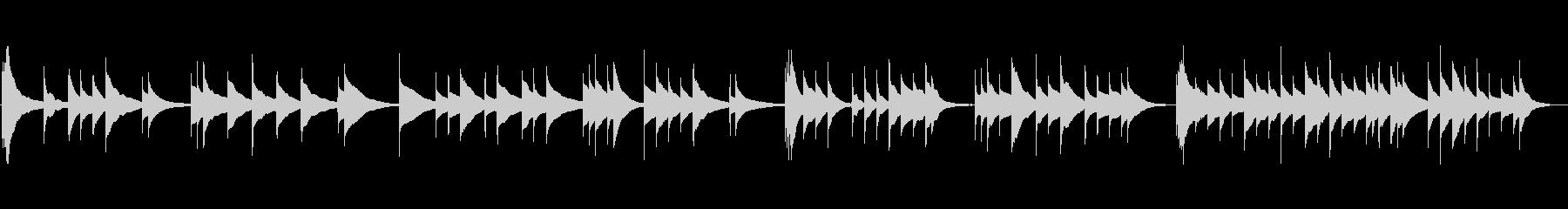 儚げなオルゴール曲の未再生の波形