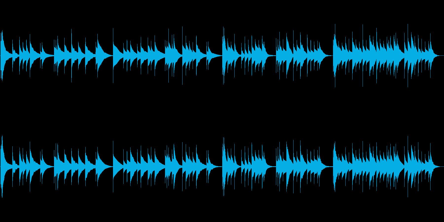 儚げなオルゴール曲の再生済みの波形