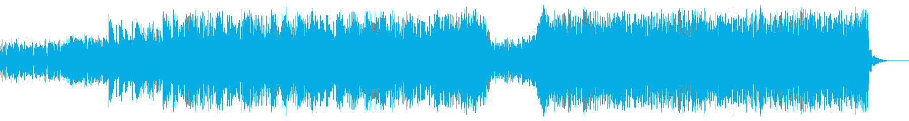 緊張感オカルト感のある力強い曲(ホラー)の再生済みの波形