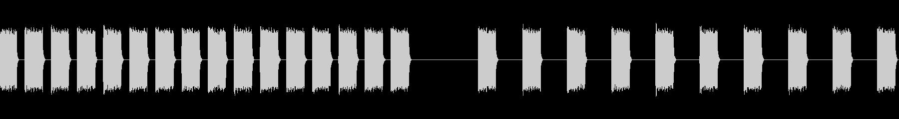 警告信号、2バージョン、シャープ、...の未再生の波形