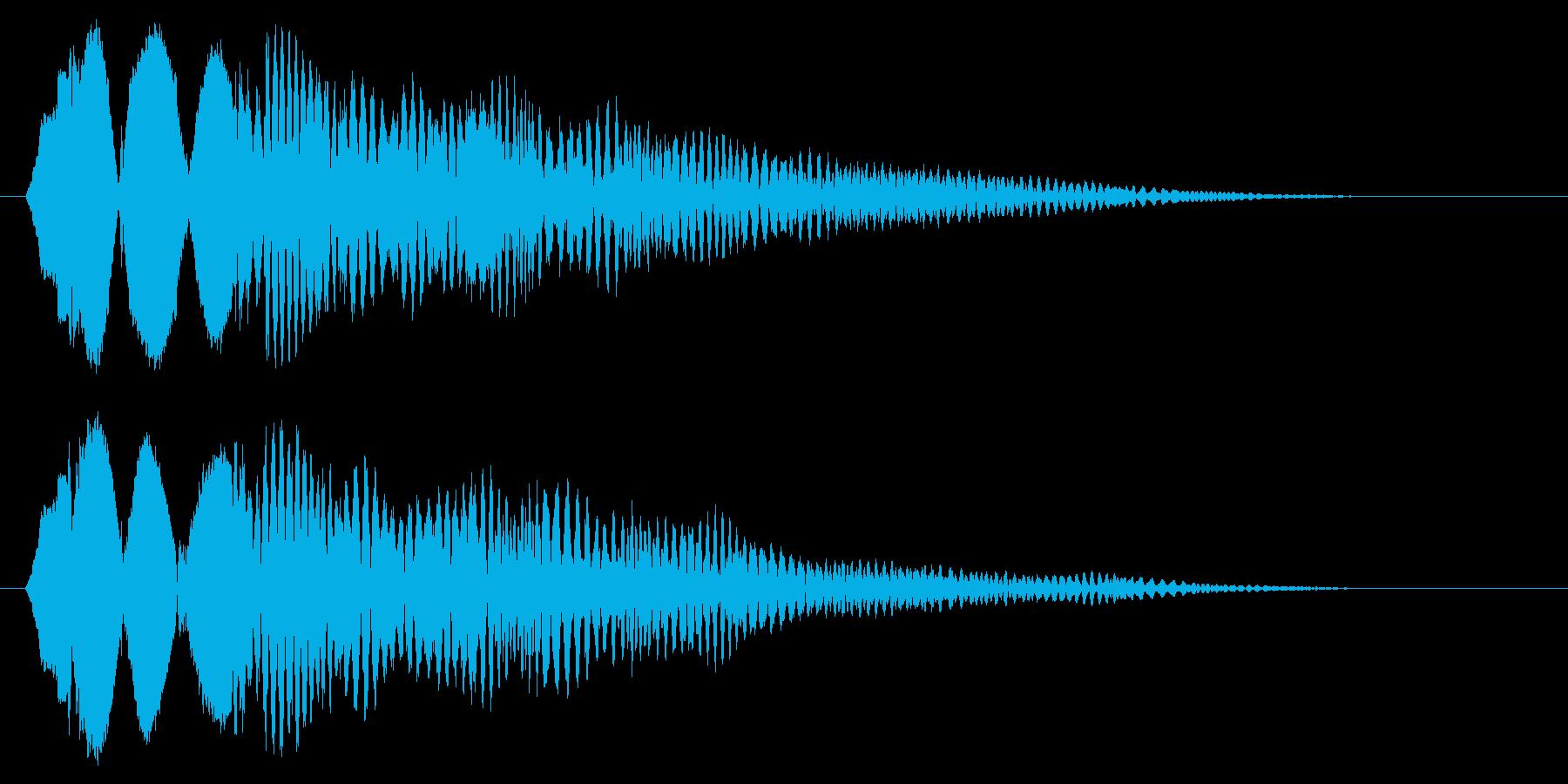 ピリョ〜ン(軽快な動きを表現する効果音)の再生済みの波形