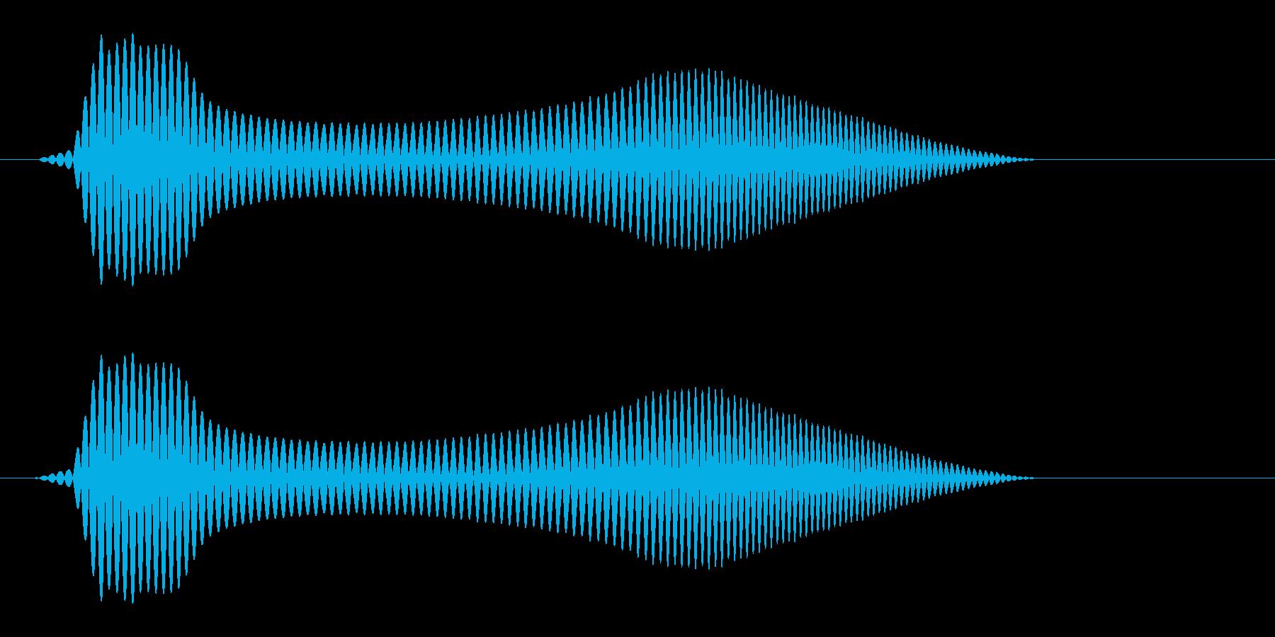 ポワン(ゲームの接触音)の再生済みの波形