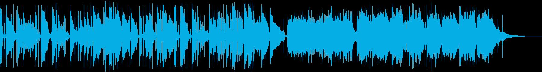 アコースティックアンビエント風ソロギターの再生済みの波形