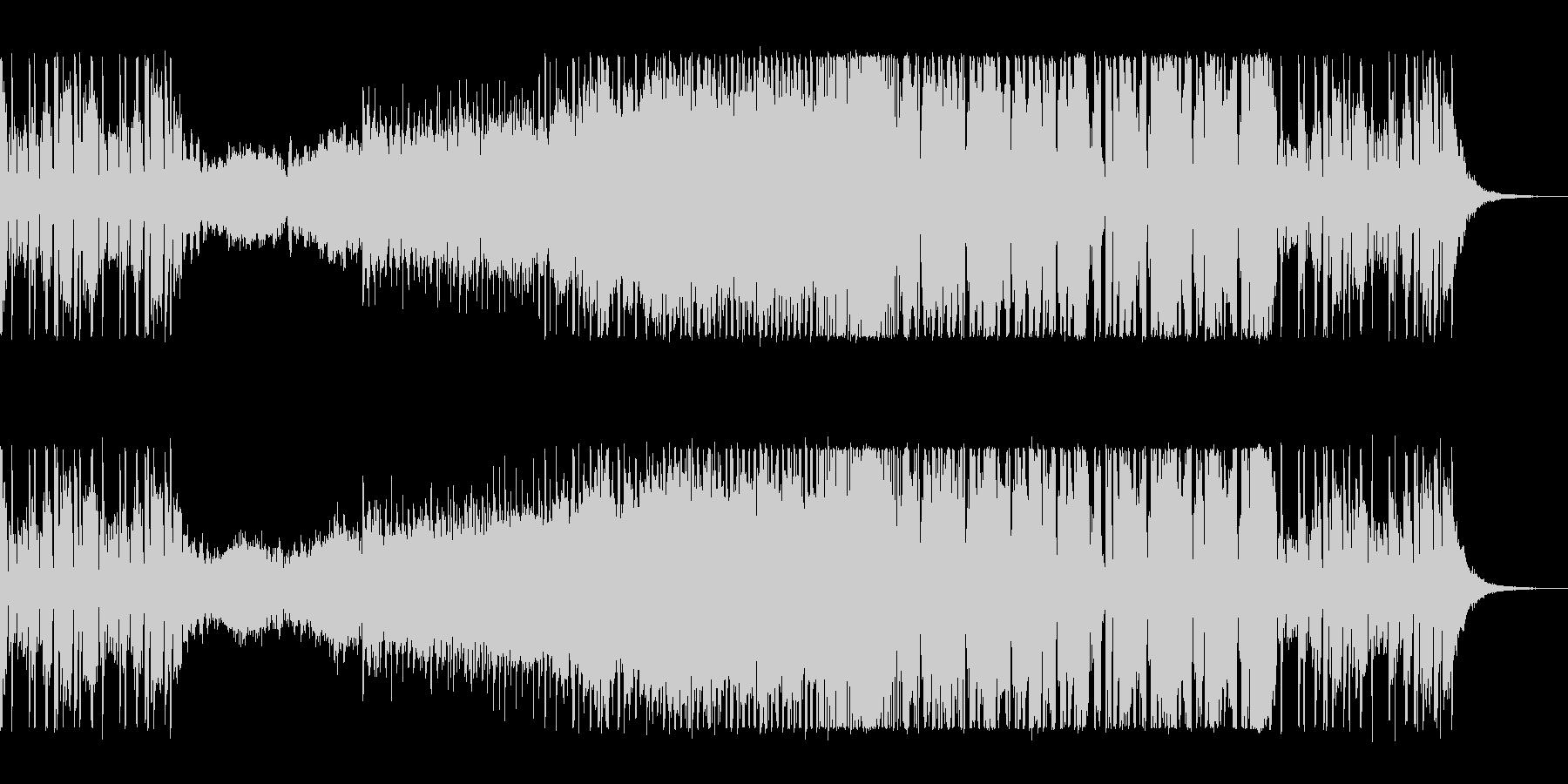ゆったりキラキラのエレクトロポップの未再生の波形