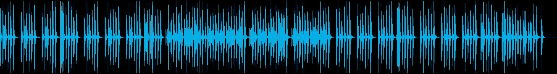 リコーダー、マリンバの間抜けで可愛い曲の再生済みの波形