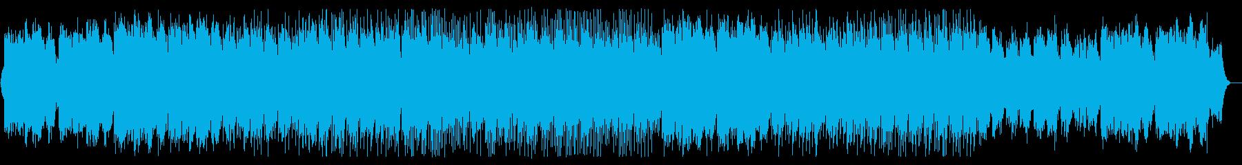 和風の琴や笛の様なふんわりした優しい曲の再生済みの波形