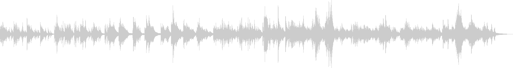 幻想的でかわいらしいピアノBGMの未再生の波形