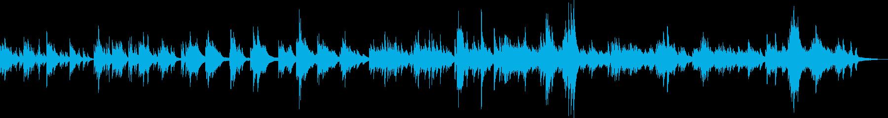 幻想的でかわいらしいピアノBGMの再生済みの波形