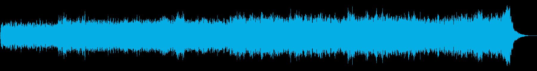 バッハ風4声のパイプオルガンオリジナルの再生済みの波形