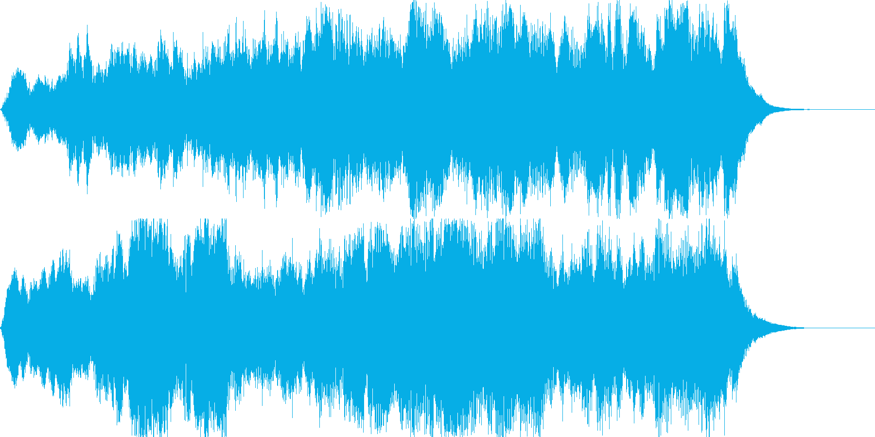 ゲームオーバー時に合うジングルです。の再生済みの波形