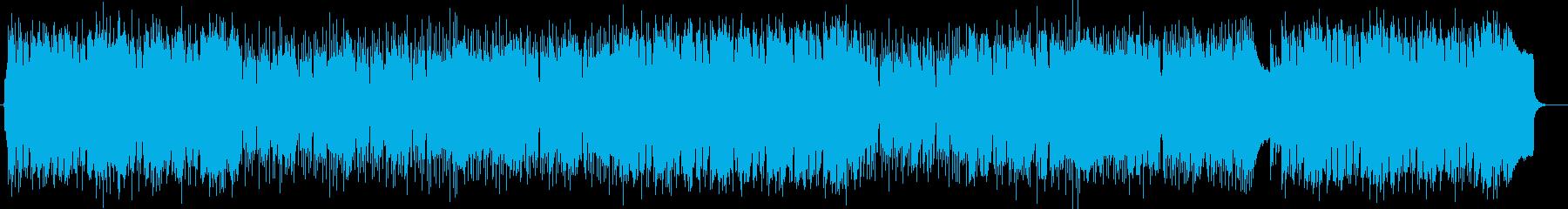 爽やかでキラキラ感のあるシンセサウンドの再生済みの波形